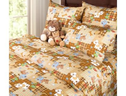 Детский комплект постельного белья из бязи Текс Дизайн Тузик  (1,5-спальный)
