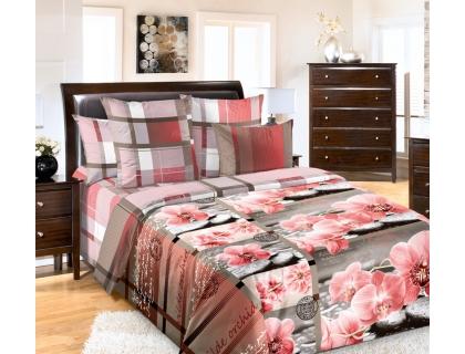 Семейный комплект постельного белья из перкаля Текс-Дизайн Дикая орхидея