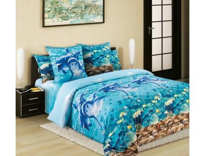 Семейный комплект постельного белья из перкаля Текс-Дизайн Дельфины
