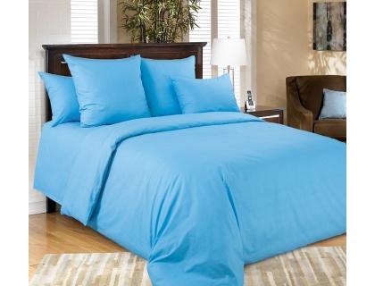 Семейный комплект постельного белья из перкаля Текс-Дизайн Голубой