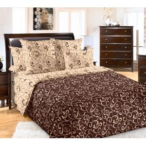 Постельное белье Текс-Дизайн Вензель (коричневый, семейный, перкаль)
