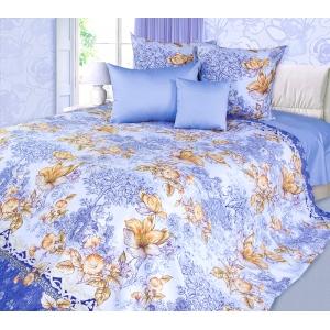 Постельное белье Текс-Дизайн Флирт (евро, сатин, голубой)