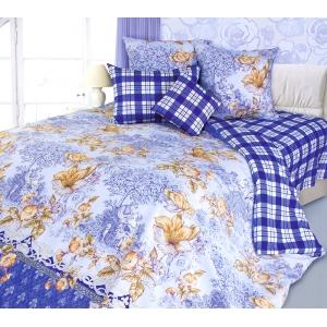 Постельное белье Текс-Дизайн Флирт (1.5-спальное, сатин, синий)