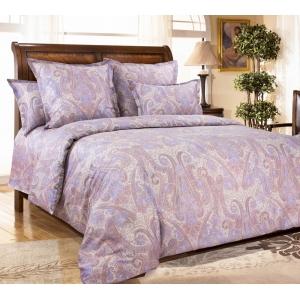 Постельное белье Текс-Дизайн Кашмир (семейное, сатин, фиолетовый)
