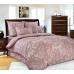 Семейный комплект постельного белья из сатина Текс-Дизайн Кашмир (бордовый)