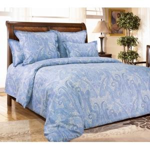 Постельное белье Текс-Дизайн Кашмир (семейное, сатин, голубой)