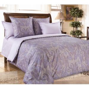 Постельное белье Текс-Дизайн Кашмир (семейное, сатин, фиолетовый, с компаньоном)
