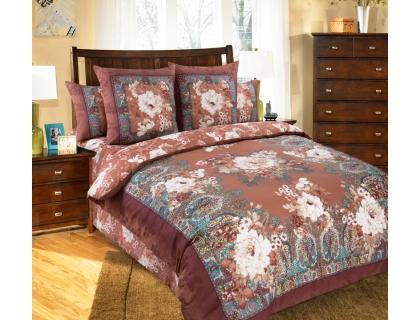 Семейный комплект постельного белья из сатина Текс-Дизайн Коралл