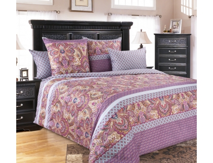 Семейный комплект постельного белья из сатина Текс-Дизайн Либретто (сиреневый)