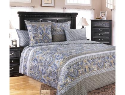 Семейный комплект постельного белья из сатина Текс-Дизайн Либретто (голубой)