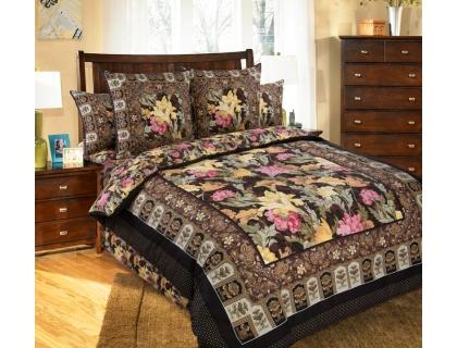 Семейный комплект постельного белья из сатина Текс-Дизайн Маргарита