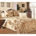 Семейный комплект постельного белья из сатина Текс-Дизайн Музей (бежевый)