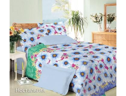 Семейный комплект постельного белья из сатина Текс-Дизайн Ностальгия (зеленый)