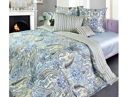 Семейный комплект постельного белья из сатина Текс-Дизайн Скерцо (голубой)