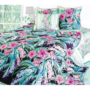 Постельное белье Текс-Дизайн Таинственный остров (1.5-спальное, сатин, черный)