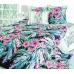 Семейный комплект постельного белья из сатина Текс-Дизайн Таинственный остров (черный)