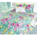 Семейный комплект постельного белья из сатина Текс-Дизайн Таинственный остров (голубой)