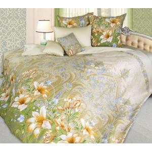Постельное белье Текс-Дизайн Жозефина (семейное, сатин, зеленый)