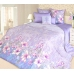 Семейный комплект постельного белья из сатина Текс-Дизайн Жозефина (сиреневый)